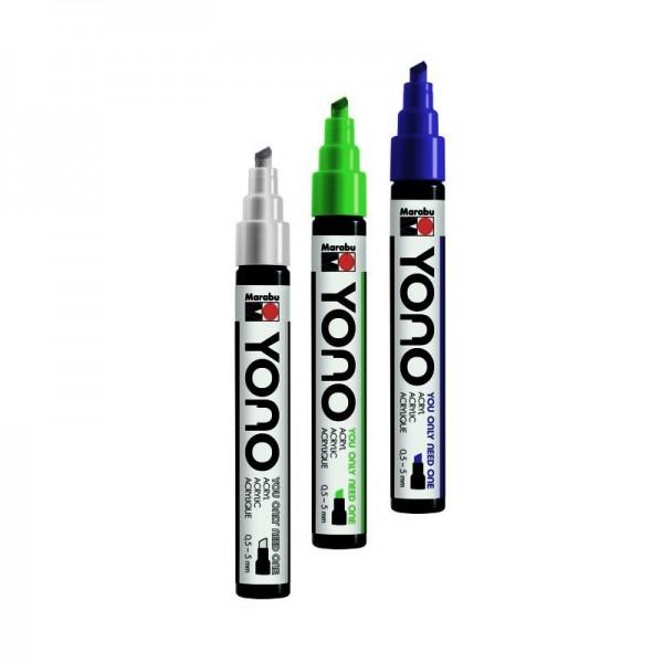 YONO Скосен акрилен маркер - връх 0,5 - 5 мм - на бройка