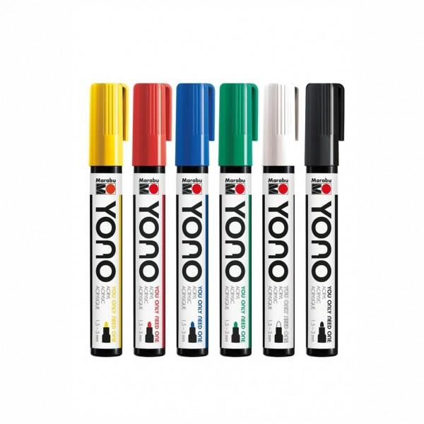 YONO Объл акрилен маркер - връх 1,5 - 3 мм - на бройка