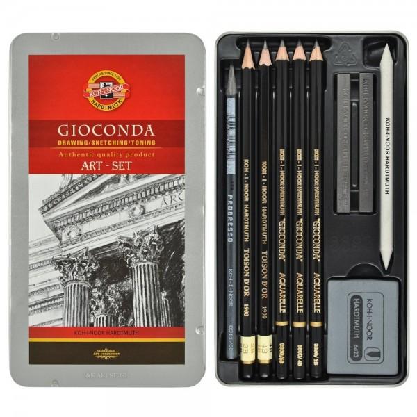 """Професионален комплект за скициране """"Джоконда"""" 8893, 10 елемента"""