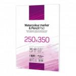 Скицник 'Watercolour Marker & Pencil Pad' лепен 25*35 cm 20 листа бял картон 220 g