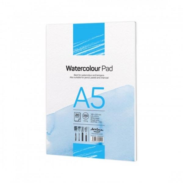 Скицник 'Watercolour Pad' лепен A5 (14.8*21 cm) 20 листа бял картон 250 g