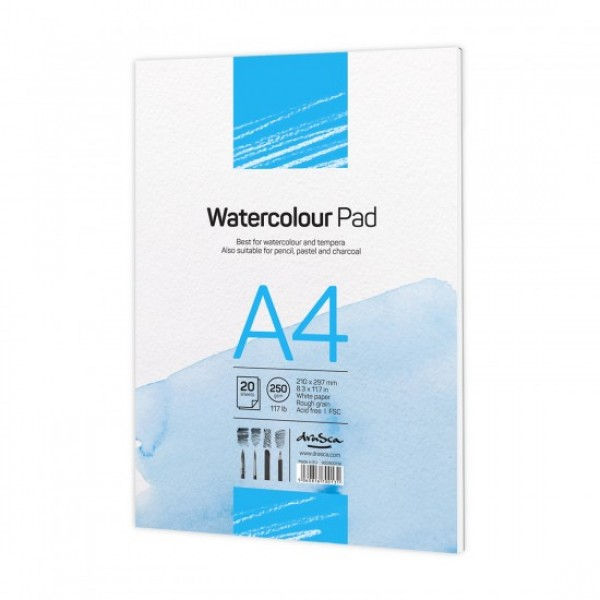 Скицник 'Watercolour Pad' лепен A4 (21*29.7 cm) 20 листа бял картон 250 g