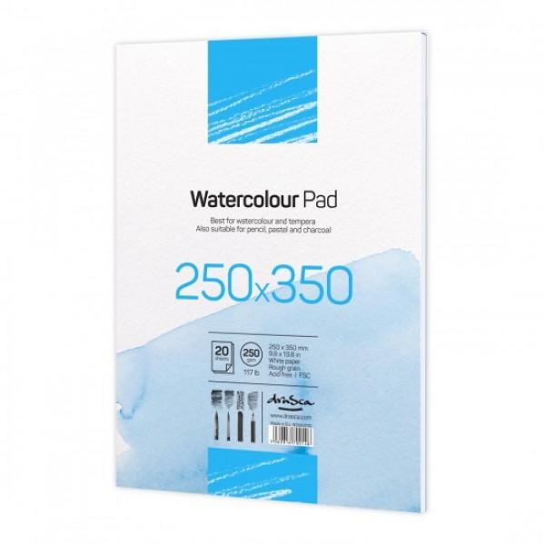 Скицник 'Watercolour Pad' лепен 25x35 cm 20 листа бял картон 250 g