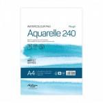Скицник 'Aquarelle Rough 240' лепен A4 (21*29.7 cm) 15 листа бял картон 240 g 20% памук