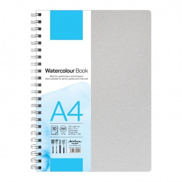 Скицник 'Watercolour book' спирала A4 (21*29.7 cm) 30 листа бял картон 250g