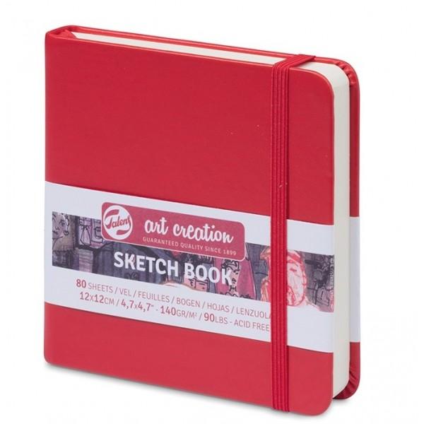 TALENS SKETCHBOOK 12 X 12 cm - 80 листа / 140гр RED