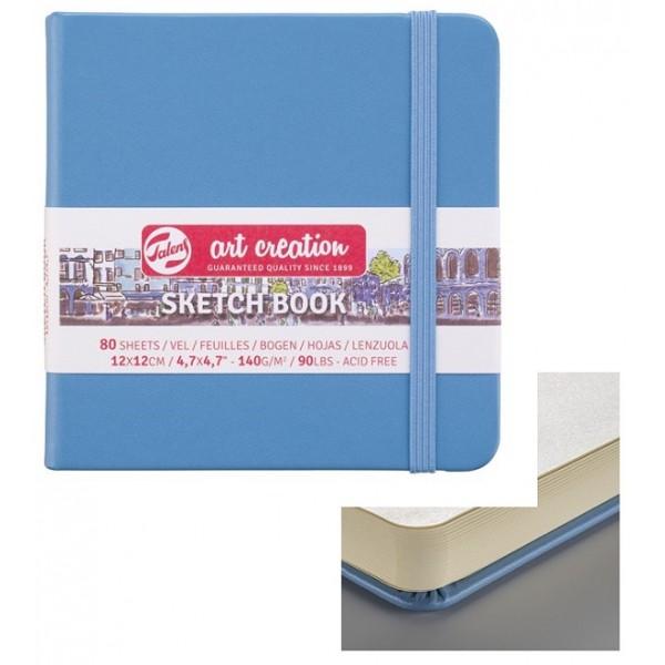 TALENS SKETCHBOOK 12 X 12 cm - 80 листа / 140гр Lake BLUE