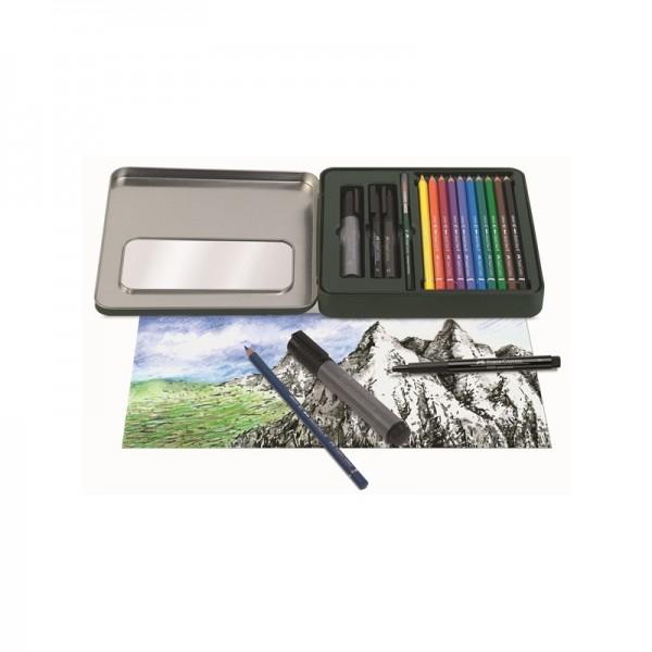 Акварелни моливи 10 цв Albrecht Durer + Artist Pen тънкописци - Faber Castell