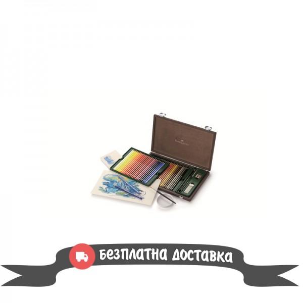 Акварелни моливи 48 цв Albrecht Durer дървена кутия - Faber Castell