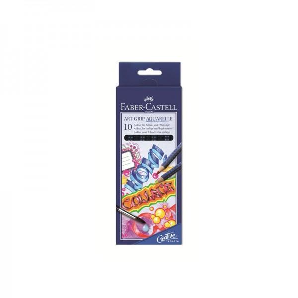 Акварелни моливи комплект 10 цв. Art Grip Aquarelle - Faber Castell