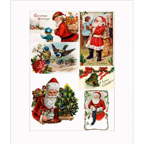 Оризова хартия за декупаж - A4 - Коледа 01