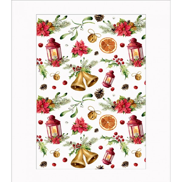 Оризова хартия за декупаж - A4 - Коледа 06