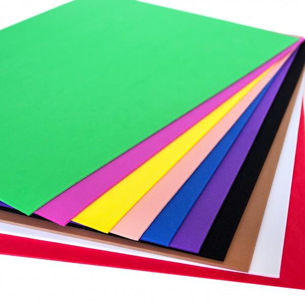 Слънчоглед лист фоам 2 mm, A4, пакет 10 цвята, микс