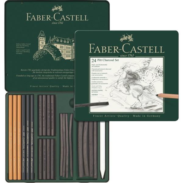 Комплект въглени Art & Graphic PITT 22 части - Faber Castell