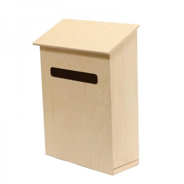 Дървена кутия за писма 35х29х12см