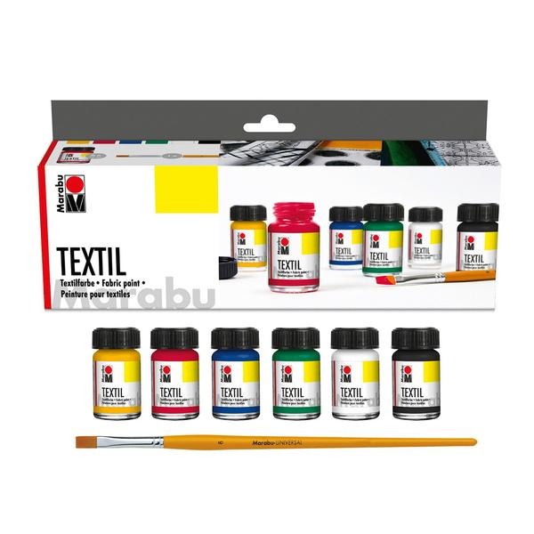 Комплект бои за текстил 6х15мл