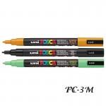 Маркер UNI Posca PC-3M 0.9-1.3мм - за всякаква повърхност