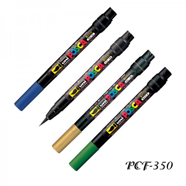 Маркер UNI Posca PCF-350 четка - за всякаква повърхност