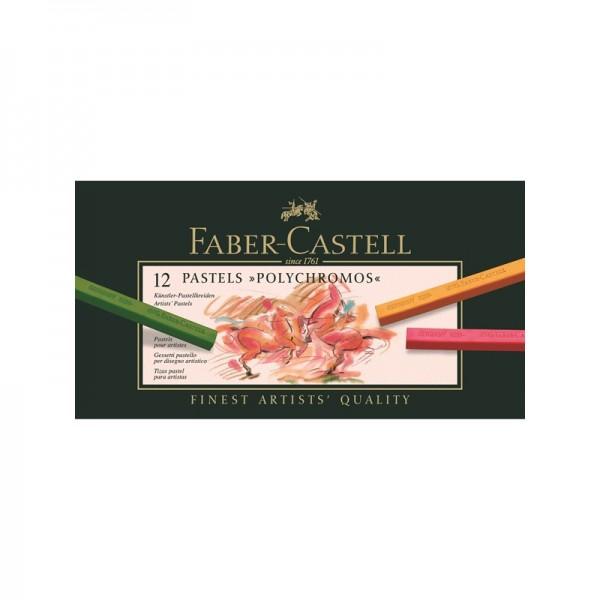Пастели Polychromos 12 цв - Faber Castell