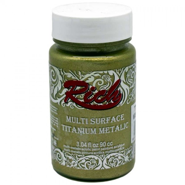 Акрилна боя Rich Multi Surface Titanium Metalic 90ml. - VANILLA