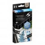 Двувърхи алкохолни маркери Classique - Комплект 6 Цвята - Сини