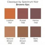 Двувърхи алкохолни маркери Classique - Комплект 6 Цвята - Кафяви