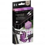 Двувърхи алкохолни маркери Classique - Комплект 6 Цвята - Лилави