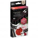 Двувърхи алкохолни маркери Classique - Комплект 6 Цвята - Червени
