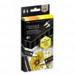 Двувърхи алкохолни маркери Classique - Комплект 6 Цвята - Жълти