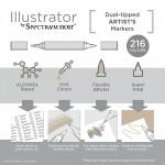 Двувърхи алкохолни маркери-четка Spectrum Noir Illustrator, на бройка
