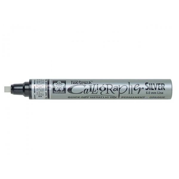 Sakura маркер Pen-Touch Calligrapher Medium silver