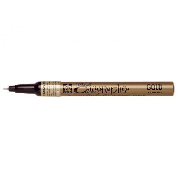 Sakura маркер Pen-Touch Calligrapher Fine gold