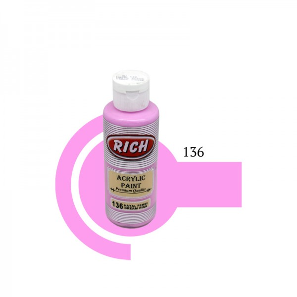 Акрилна боя Rich 130ml DREAM PINK