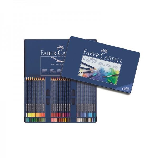 Акварелни моливи комплект 60 цв. Art Grip Aquarelle - Faber Castell