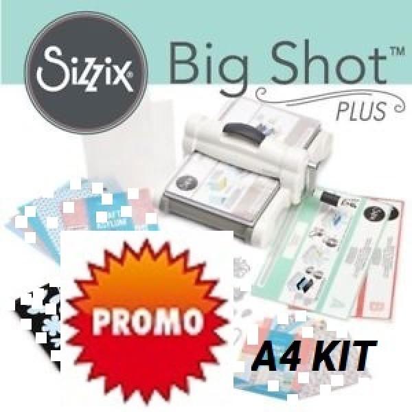 BIG SHOT PLUS A4 KIT - СТАРТОВ комплект Машина за изрязване и релеф + щанци, папки, картони