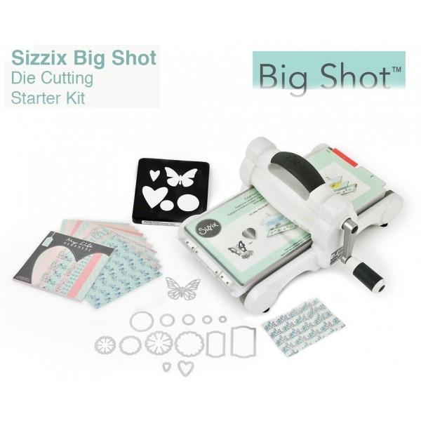 BIG SHOT STARTER KIT - СТАРТОВ комплект Машина за изрязване и релеф + щанци, папки, картони