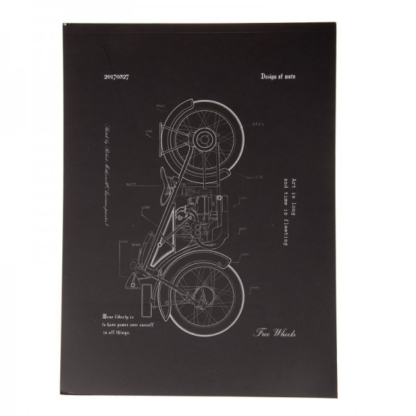 блокче А4 Мотоциклет