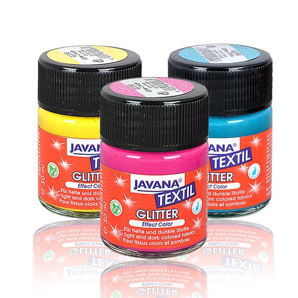 Боя за рисуване върху текстил 50мл - JAVANA GLITTER