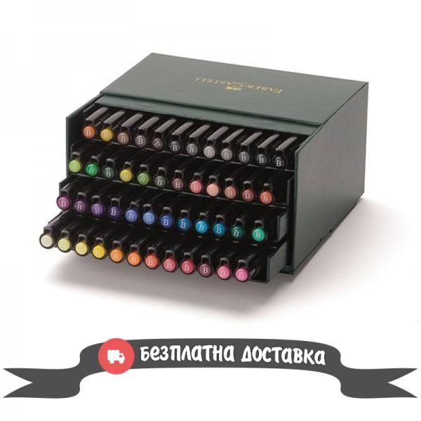 Маркер-четка комплект 48 цв. PITT Artist Pens brush Studio box - Faber Castell