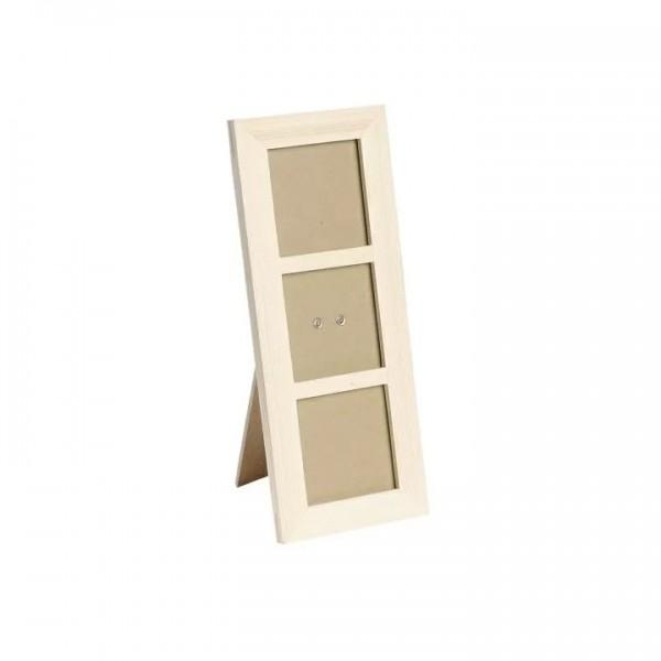 Дървена Рамка : Knorr Prandell : за 3 Снимки с Размер 7 x 7 cm
