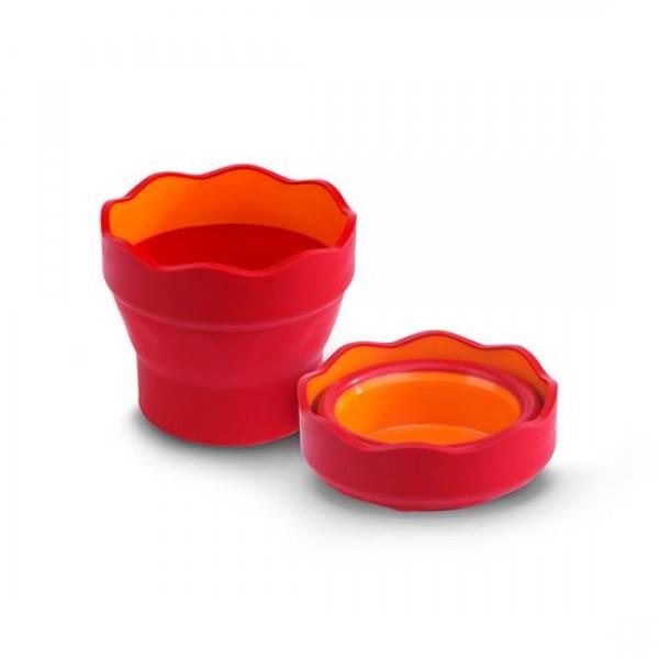 Сгъваема чаша за вода - Clic & Go - червена