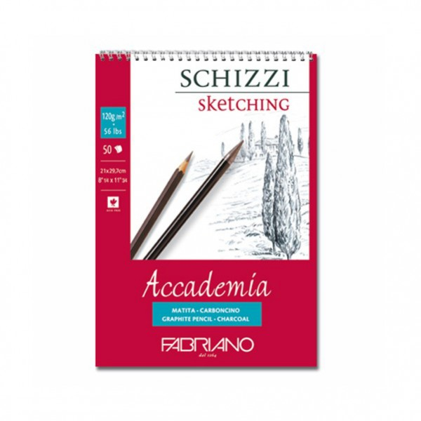 Fabriano скицник SCHIZZI Accademia A5 120g, 50 л