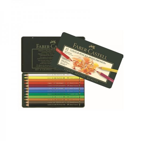 Цветни моливи 12 цв. Polychromos - Faber Castell