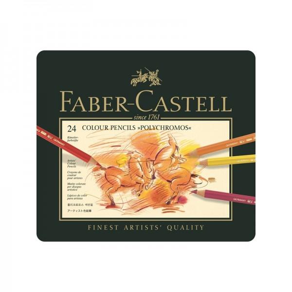 Цветни моливи 24 цв. Polychromos - Faber Castell