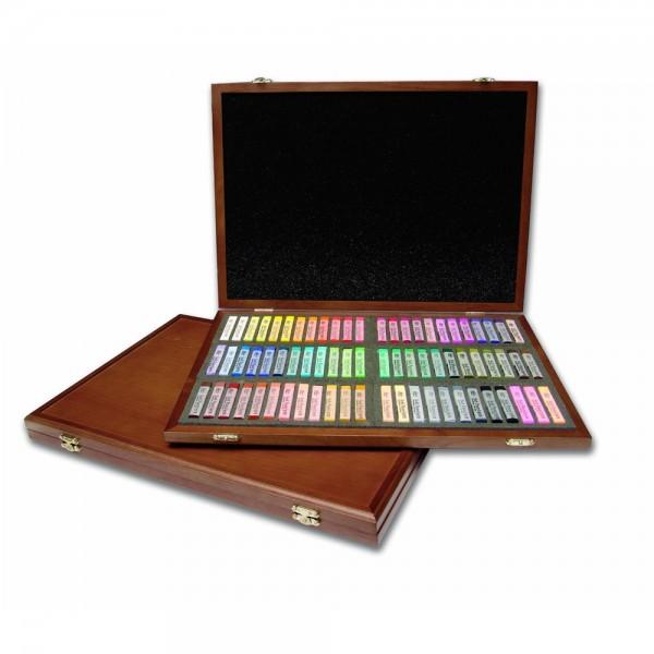 GALLERY - Сухи пастели 72 цвята в дървена кутия
