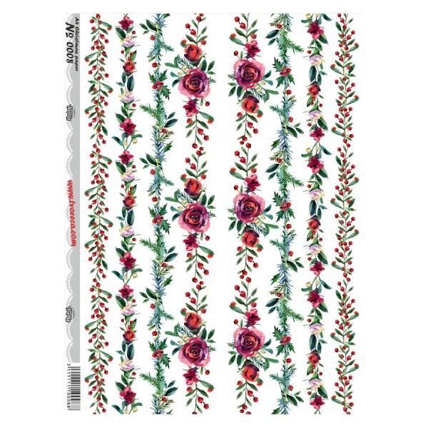 0008 Дизайнерска хартия - A4 Коледа