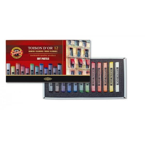 KOH-I-NOOR - сухи пастели комплект 12 цвята