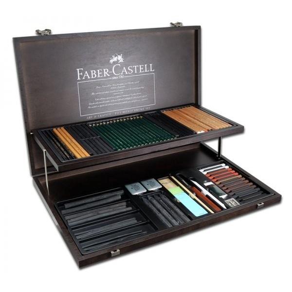 Комплект монохромни материали за рисуване - дървена кутия Art&Graphic PITT Monochrome
