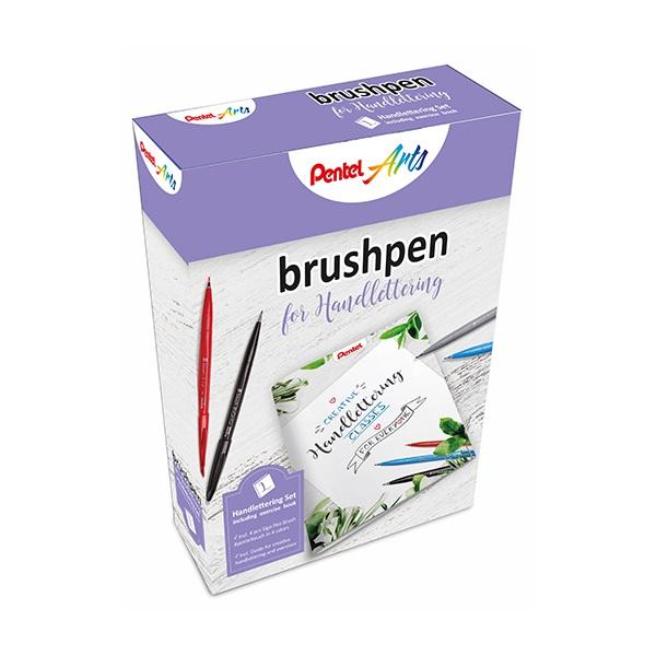 Комплект маркери четка Pentel Brush Sign Pen за калиграфия