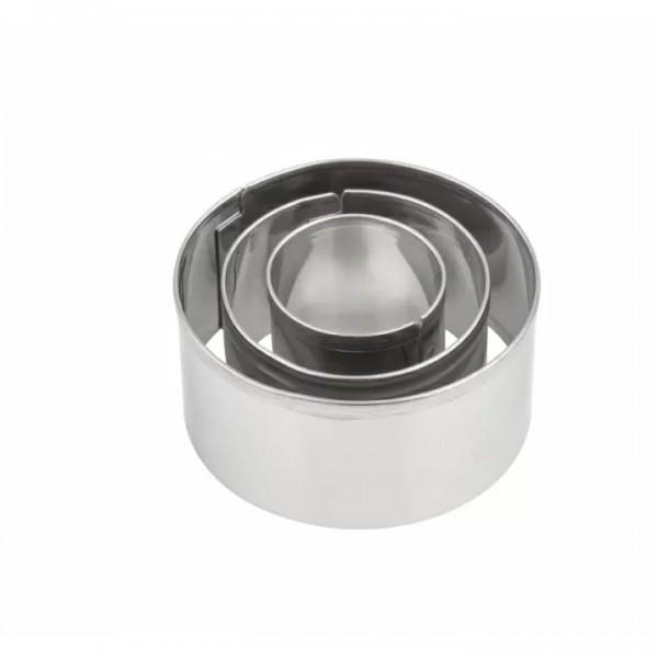 Комплект с 3 броя Метални Форми за Изрязване Makin's Кръгове